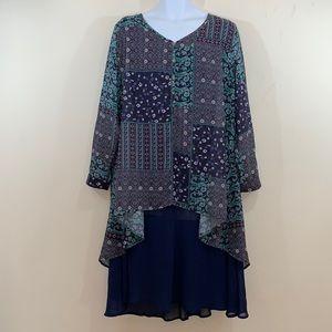 Floryday Floral Patchwork Dress  NEW  Size 3XL
